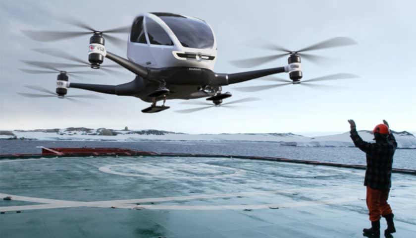 Droni e conferenza sul trasporto aereo