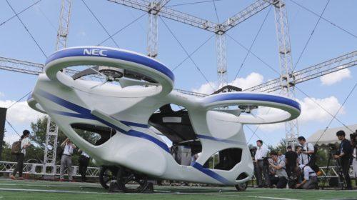 Il drone per il trasporto di persone giapponese