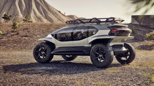 Audi AI Trail quattro con i droni al posto dei fari
