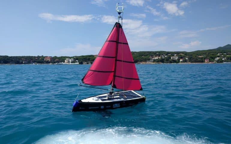 Barca drone italiana in viaggio verso Cuba