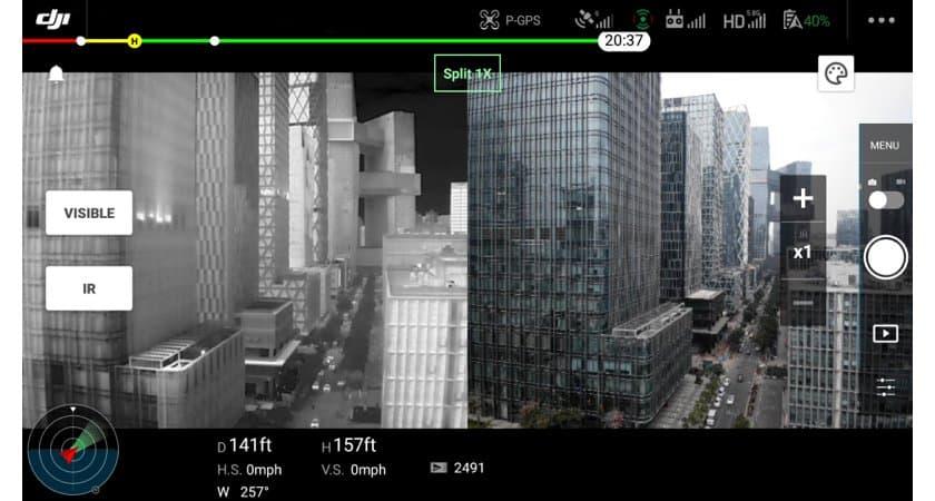 Dji Mavic 2 Enterprise Advanced con camera termica