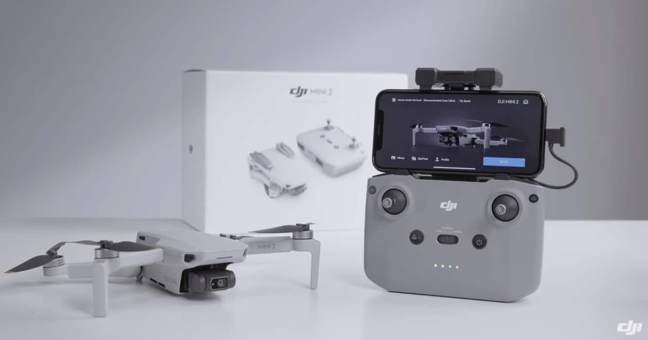 Collegare il drone Dji Mini 2 al radiocomando