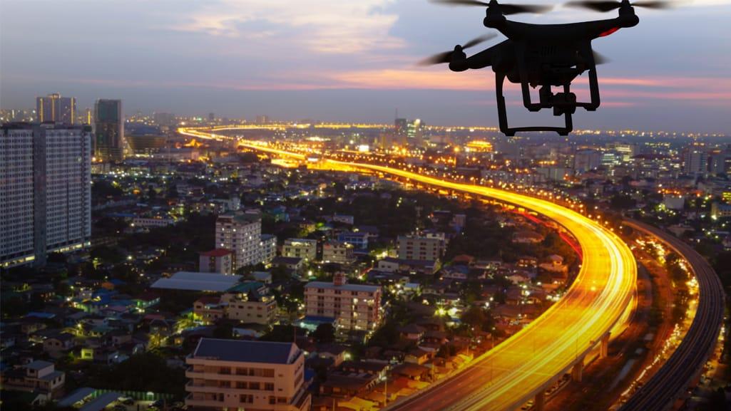 Droni monitoraggio autostrade