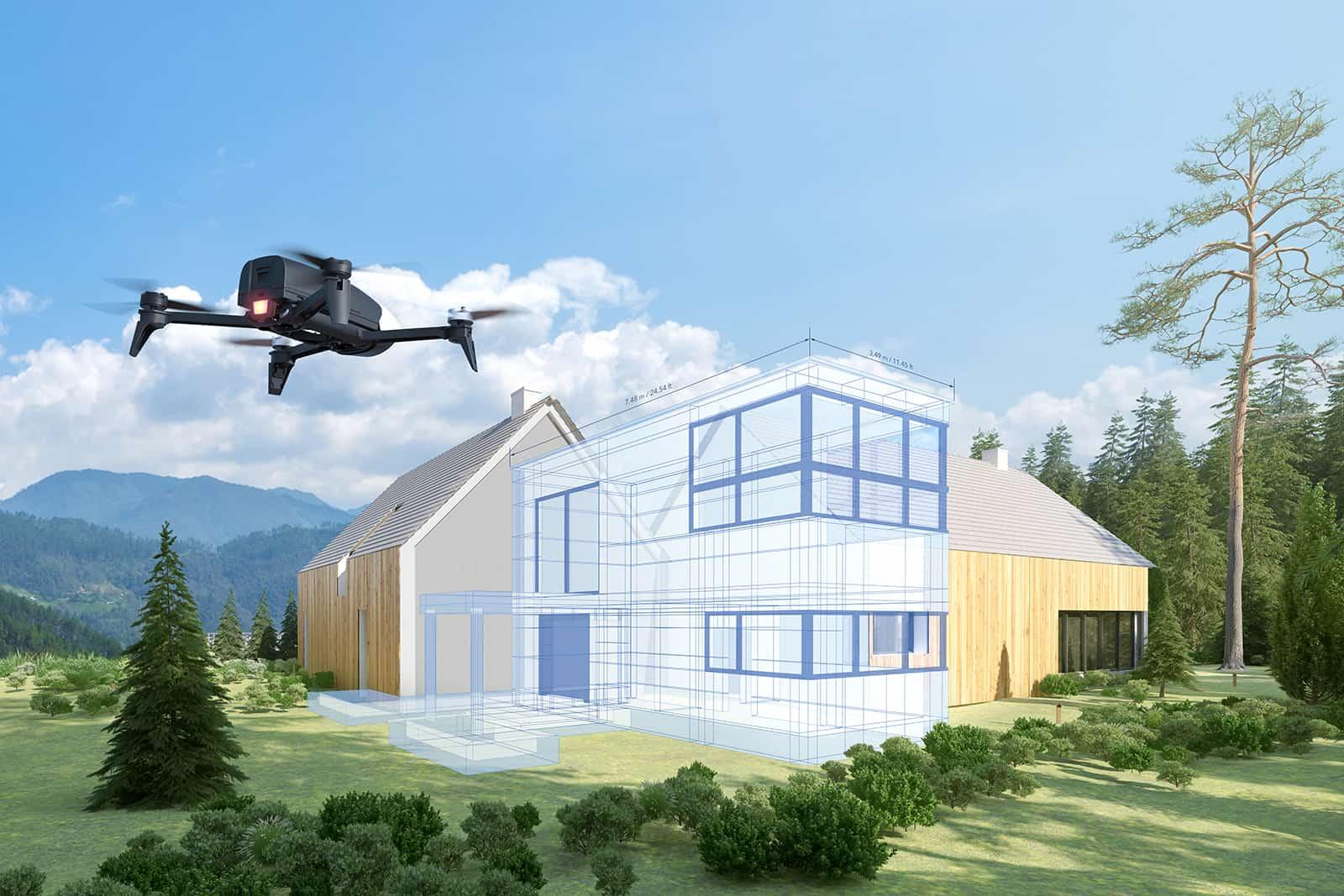 Droni per rilievi su edifici