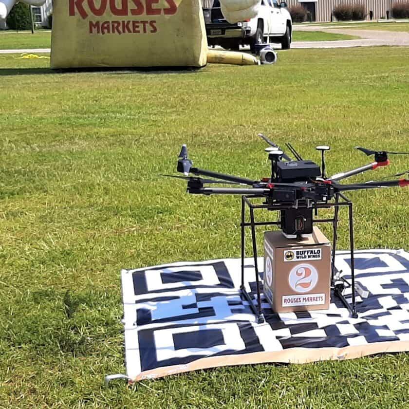 Droni per consegnare il pranzo