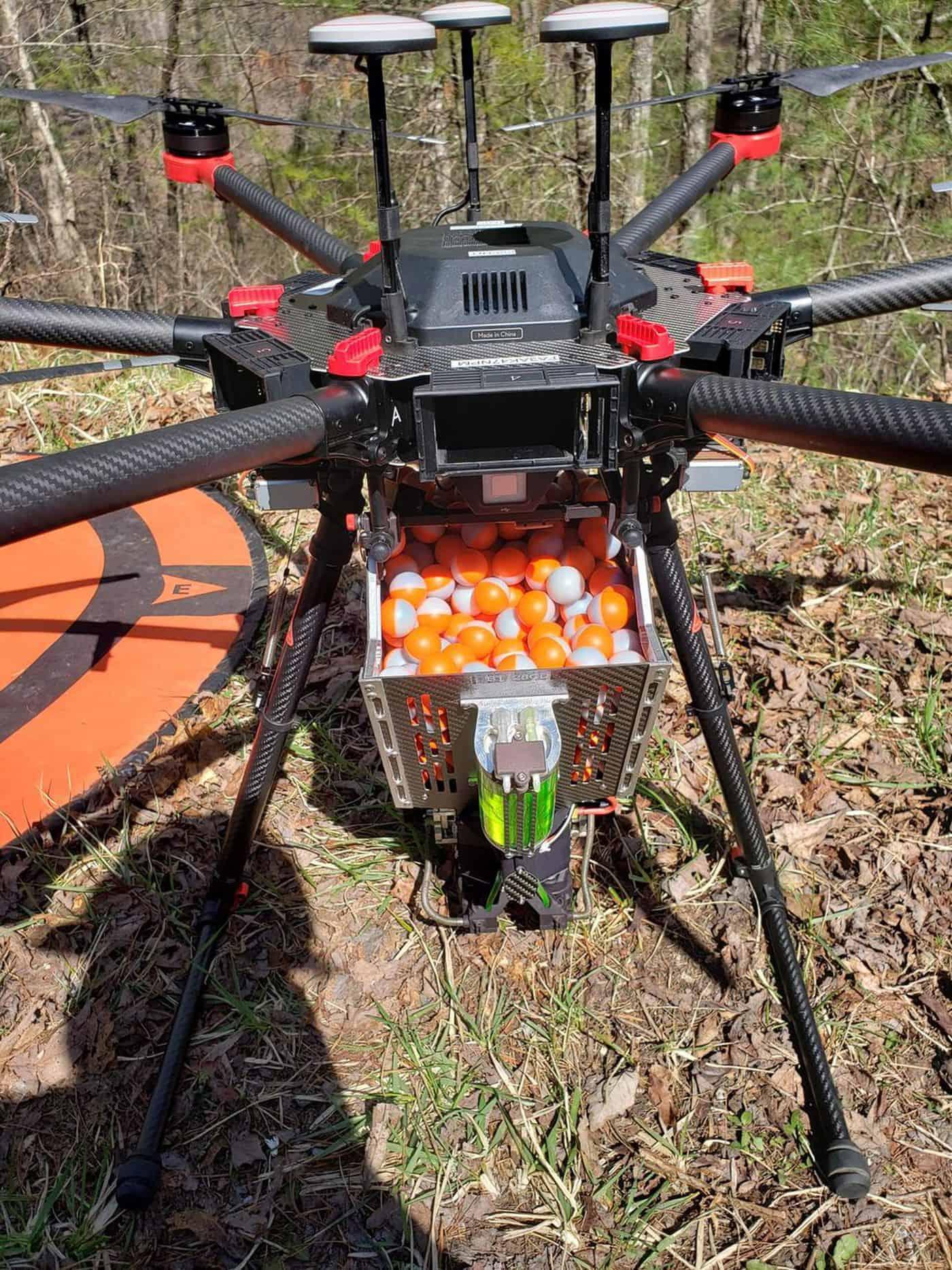 Droni per incendi programmati